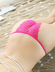 cheap -Women's Lace Lace Erotic Ultra Sexy Panties / Briefs Solid Colored Low Waist Black White Blushing Pink One-Size / Going out / Club