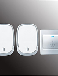 cheap -Wireless One to Two Doorbell Music / Ding dong Non-visual doorbell Surface Mounted