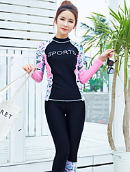 cheap -Women's Rash Guard Dive Skin Suit Diving Suit UV Sun Protection Breathable Quick Dry Full Body 2-Piece - Swimming Diving Surfing Painting Autumn / Fall Spring Summer / Stretchy