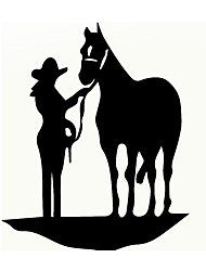 cheap -15x18cm Horse Pulling Reflective Car Stickers Auto Truck Vehicle Motorcycle Decal