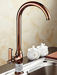 cheap -Kitchen faucet - Single Handle One Hole Electroplated Standard Spout / Tall / ­High Arc Ordinary Kitchen Taps / Brass