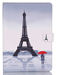 cheap -Case For Apple iPad Mini 5 / iPad New Air(2019) / iPad Mini 3/2/1 Wallet / Card Holder / with Stand Full Body Cases Eiffel Tower Hard PU Leather