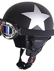 cheap -Half Helmet Adults Unisex Motorcycle Helmet  UV Protection / Anti-Wind / Anti-Dust