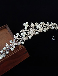 cheap -Alloy Tiaras with Imitation Pearl / Crystal / Rhinestone 1 Piece Wedding Headpiece