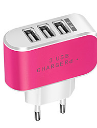 cheap -Portable Charger USB Charger EU Plug Normal 3 USB Ports 3.1 A DC 5V for