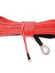 Недорогие -Кабель буксировки веревочки лебедки синтетического волокна 15m 7000lb для suv atv с дороги