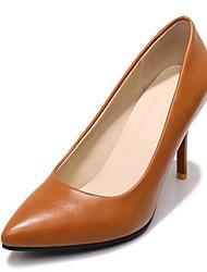 cheap -Women's PU(Polyurethane) Spring &  Fall Business / Minimalism Heels Stiletto Heel Pointed Toe Yellow / Brown / Pink