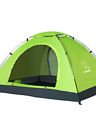 cheap -LINGNIU® 2 person Tent Outdoor Breathable Ventilation Sunscreen Single Layered Poled Dome Camping Tent 2000-3000 mm for Polyester Oxford