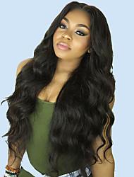 Недорогие -Необработанные натуральные волосы 360 Лобовой Лента спереди Парик Глубокое разделение стиль Бразильские волосы Естественные кудри Нейтральный Парик 130% 150% 180% Плотность волос / Жаропрочная