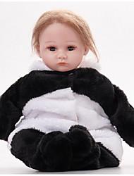 cheap -FeelWind Reborn Doll Girl Doll Baby Girl 16 inch Silicone Vinyl - lifelike Handmade Cute Kids / Teen Non-toxic Kid's Unisex Toy Gift