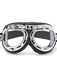 cheap -Universal Motorcycle  Helmet Scooter Goggles Black pilot style