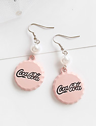 cheap -Hoop Earrings Clip on Earring Geek & Chic Punk Imitation Pearl Alloy For Harajuku Girls Cosplay Men's Women's Costume Jewelry Fashion Jewelry / 1 Pair of Earrings