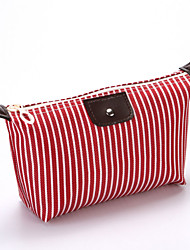 cheap -Waterproof Polyester Zipper Cosmetic Bag Striped Event / Party Pale Blue / Fuchsia / Khaki / Fall & Winter
