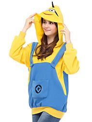 cheap -Adults' Hoodie Kigurumi Pajamas Cartoon Onesie Pajamas Polar Fleece Blue Cosplay For Men and Women Animal Sleepwear Cartoon Festival / Holiday Costumes