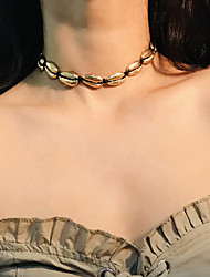 cheap -Women's Choker Necklace Tropical Silver Plated Gold Plated Chrome Gold Silver Light Brown 30 cm Necklace Jewelry 1pc For Wedding Birthday Evening Party Valentine Bikini