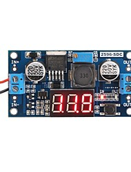 cheap -LM2596 Analog Control Buck Transformer DC-DC Voltage Reducer Regulator Module Stabilizer with Red LED Display Voltmeter