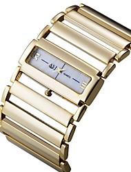 cheap -ASJ Women's Dress Watch Square Watch Japanese Quartz Luxury Casual Watch Analog Gold Silver / One Year / One Year / SSUO SR626SW+CR2025