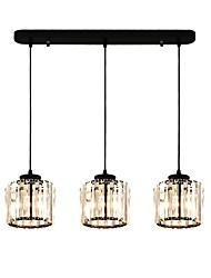 cheap -3-Light 85 cm Crystal / Creative Chandelier Metal Crystal / Novelty Painted Finishes Artistic / Chic & Modern 110-120V / 220-240V