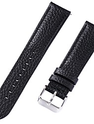 cheap -Genuine Leather / Leather / Calf Hair Watch Band Strap for Black / White / Red 20cm / 7.9 Inches 2cm / 0.8 Inches