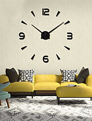 cheap -Modern Contemporary / DIY Stainless steel Round Garden Theme / Classic Theme Indoor AA Batteries Powered Decoration Wall Clock Digital Stainless Steel No
