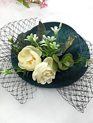 cheap -Other Material Fascinators with Cap 1 Piece Wedding / Party / Evening Headpiece