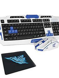 abordables -LITBest DS-81 Sans fil 2,4 GHz Souris clavier combo Portable clavier de bureau Siliencieux office de la souris 1600 dpi