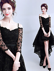 cheap -Black Swan Dress Women's Movie Cosplay Embroidery Open Back Wasp-Waisted Black Dress Halloween Carnival Masquerade Lace Cotton Embroidery