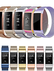 cheap -Watch Band for Fitbit Charge 3 Fitbit Sport Band / Milanese Loop Stainless Steel Wrist Strap