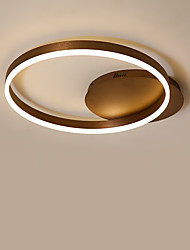 cheap -KAKAXI Geometric Circle Flush Mount Lights Downlight Brushed Aluminum Acrylic Dimmable 220-240V / 100-120V Dimmable With Remote Control