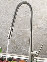 cheap -Kitchen faucet - Single Handle One Hole Standard Spout / Tall / ­High Arc Other Contemporary Kitchen Taps / Brass