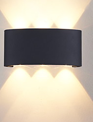 cheap -Modern Contemporary Wall Lamps & Sconces Outdoor Metal Wall Light 85-265V 6 W