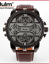 cheap -Oulm Men's Wrist Watch Quartz Oversized Luxury Cool Leather Black / Brown Analog - White Black Red One Year Battery Life / Japanese / Large Dial / Japanese / Jinli 377 / Steampunk