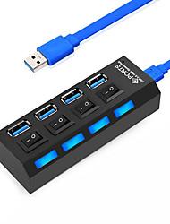 Недорогие -USB 3.0 to USB 3.0 USB-концентратор 4 Порты Высокая скорость / С коммутатором (а)