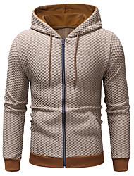 cheap -Men's Hoodie Solid Colored Hooded Long Sleeve Slim Black Dark Gray Beige M L XL XXL XXXL