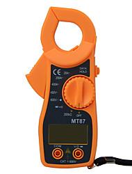 Недорогие -mt87 цифровой токоизмерительный мультиметр постоянное напряжение переменного тока ток щипцы сопротивление amp ом тестер электронный medidor мультиметр инструменты