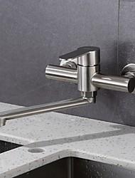 cheap -Kitchen faucet - Single Handle Two Holes Standard Spout Contemporary Kitchen Taps