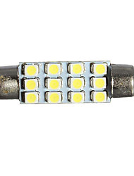 cheap -1 Piece Car Light Bulbs 1 W SMD 3528 20 lm 12 LED Interior Lights For universal Arnage / All Models All years