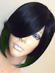 cheap -Costume Accessories Straight With Bangs Wig Short Natural Black Black / Rose Black / Green Black / Purple Black / Red Synthetic Hair 27 inch Women's Women Black