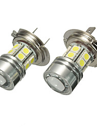 cheap -Pair 12V H7 499 6000K SMD LED Daytime Light Projector Headlight Fog Bulbs White