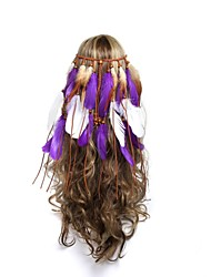 cheap -Gypsy American Indian Adults' Women's Bohemian Retro Ethnic Headpiece Feather Samba Headdress For Party Halloween Festival Wood Feathers Plush Feathers Vintage Headwear
