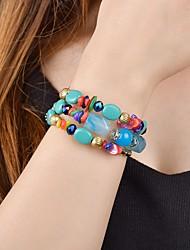 cheap -Women's Wrap Bracelet Yoga Bracelet Vintage Style Classic Ethnic Stone Bracelet Jewelry Red / Green / Blue For Ceremony Office & Career