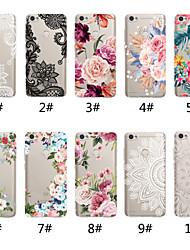 cheap -Case For Xiaomi Xiaomi Redmi Note 5A / Xiaomi Redmi Note 5 Pro / Xiaomi Redmi Note 6 Transparent / Pattern Back Cover Lace Printing / Flower Soft TPU / Xiaomi Redmi Note 4X / Xiaomi Redmi Note 4