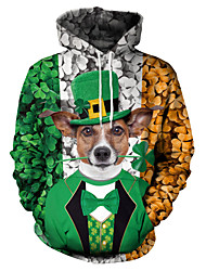 cheap -Elf Masquerade Adults' Men's Halloween Carnival St Patricks Day Festival / Holiday Polyster Green Carnival Costumes Shamrock Novelty 3 Leaf