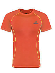 cheap -KROSSTORM® Men's Hiking Tee shirt Short Sleeve Outdoor Lightweight Breathable Quick Dry Fast Dry Tee / T-shirt Top Spring Summer Terylene Knit Crew Neck Running Camping / Hiking Exercise & Fitness