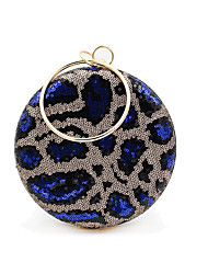 cheap -Women's Bags Alloy Evening Bag Glitter Sequin Wedding Party Event / Party Black Blue