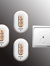 cheap -Wireless One to Three Doorbell Music / Ding dong Non-visual doorbell