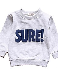 cheap -Baby Boys' Active / Basic Daily / Sports Solid Colored Long Sleeve Regular Cotton Hoodie & Sweatshirt Light gray / Toddler