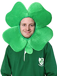 cheap -Peter Pan Irish Clover Hat Adults' Green Velour Party Cosplay Accessories Halloween / Carnival / Masquerade Costumes / 4 Leaf / Shamrock Novelty