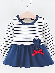 cheap -Baby Girls' Active Striped Print Long Sleeve Dress Blushing Pink / Toddler