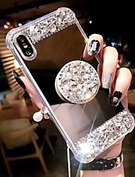 cheap -Case For Apple iPhone 11 / iPhone 11 Pro / iPhone 11 Pro Max Shockproof / with Stand Back Cover Rhinestone Hard Acrylic